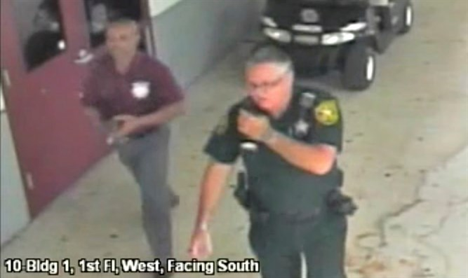 Scot Peterson in surveillance video from Florida shooting