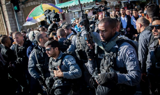 Israeli police officers in Jerusalem