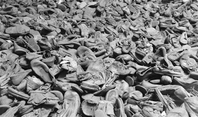 Shoes of deported in Auschwitz