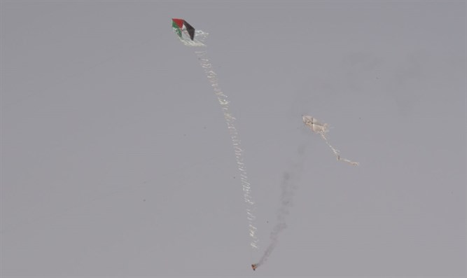 Kite with firebomb