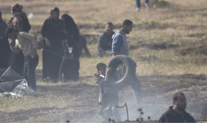 Children participate in Gaza riots