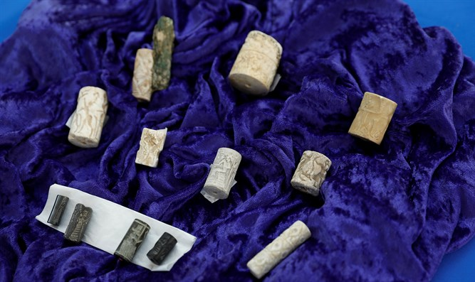 Iraqi artifacts on display at the repatriation ceremony