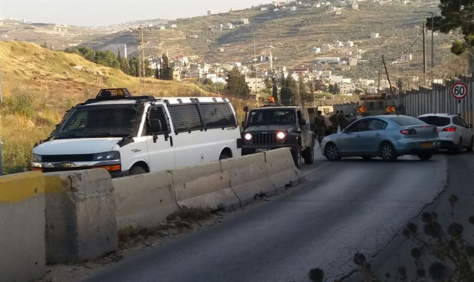 Scene of car ramming attack in Shavei Shomron