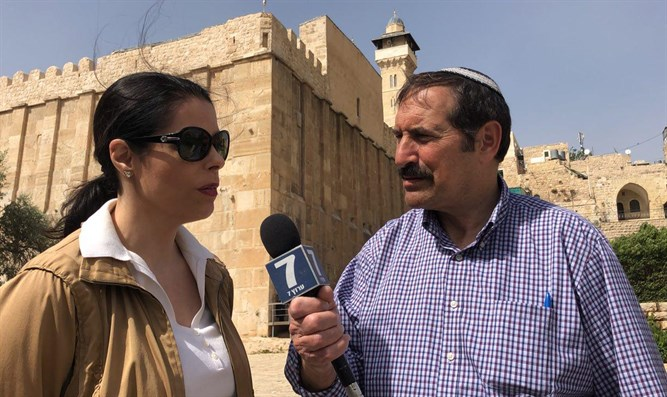 Dr. Joseph Frager interviews Chele Farley at Patriarch's Cave, Hevron