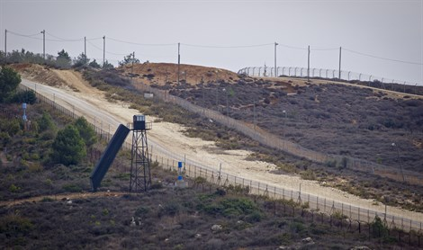 Patrol on Lebanon/Israeli border near Rosh haNikra, by UN Blue Line