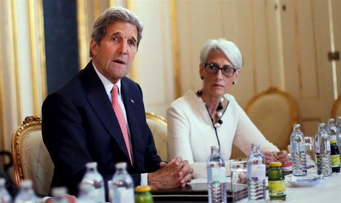 Wendy Sherman with John Kerry