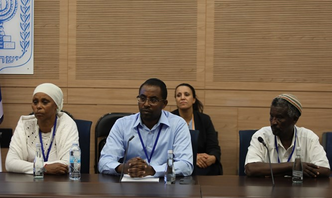 Mengistu family at committee hearing
