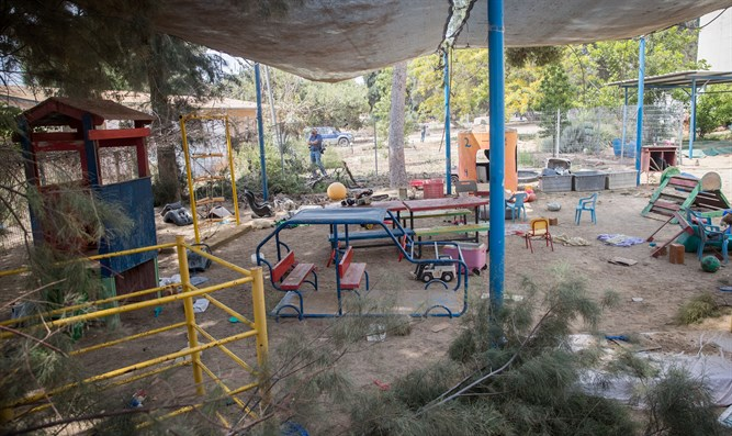 Kindergarten hit by mortar fire