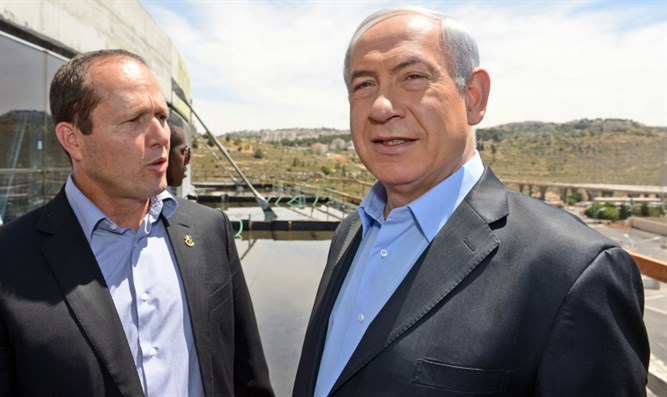 PM Binyamin Netanyahu and Jerusalem Mayor Nir Barkat