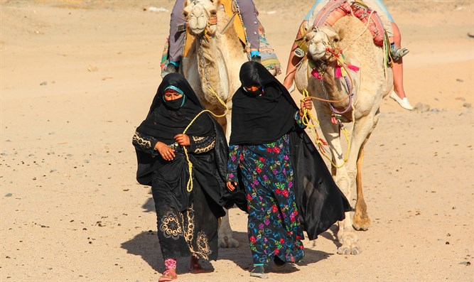 Women-cameleers from Bedouin village