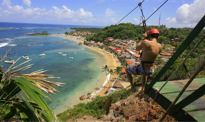 Zip-lining (illustrative)