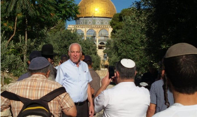 Minister Ariel on Temple Mount