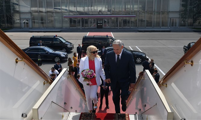 PM Netanyahu and his wife Sara leave Moscow for Israel