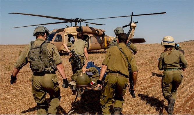 evacuation of wounded soldier