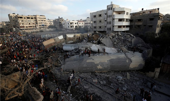 destroyed building in Gaza