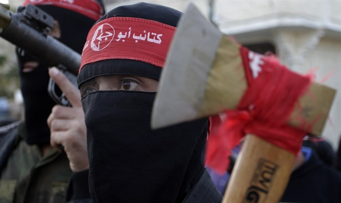 PFLP terrorists with hatchet