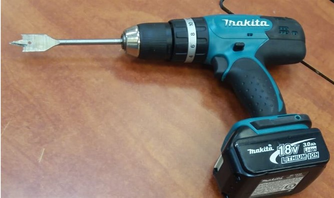 Electric screwdriver used by suspect