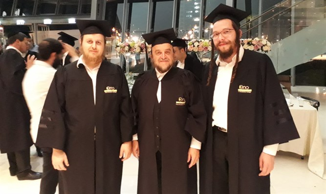 Belz hasidim at graduation