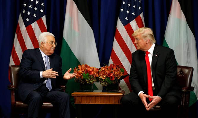 Mahmoud Abbas and Donald Trump