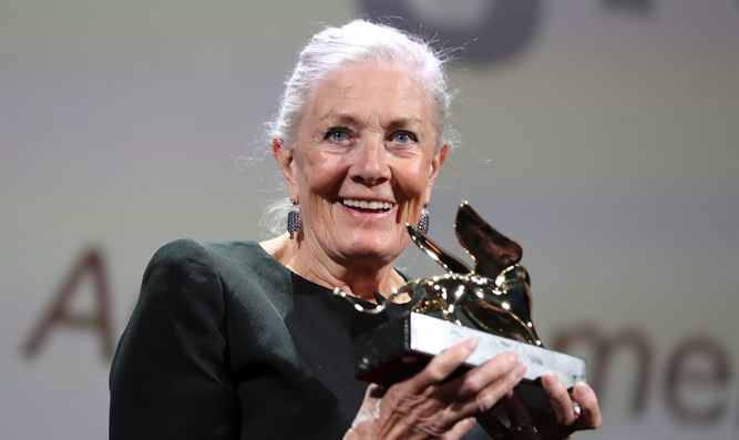 British actress Vanessa Redgrave is presented with the Golden Lion for Lifetime