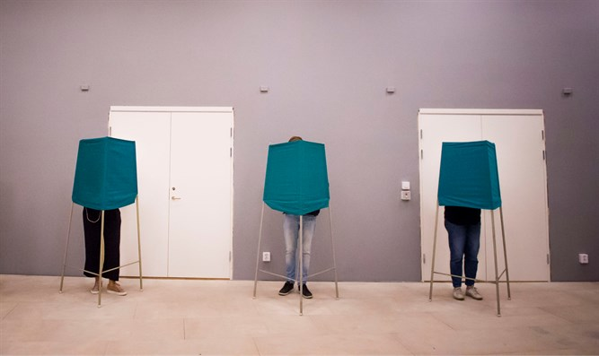 Polling booths in Stockholm, Sweden