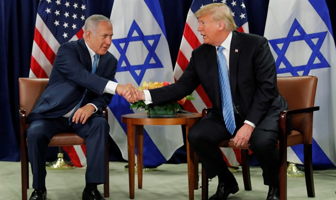US Pres. Donald Trump with Israeli PM Binyamin Netanyahu
