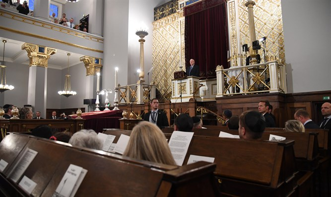 Rivlin at the Great Synagogue in Copenhagen