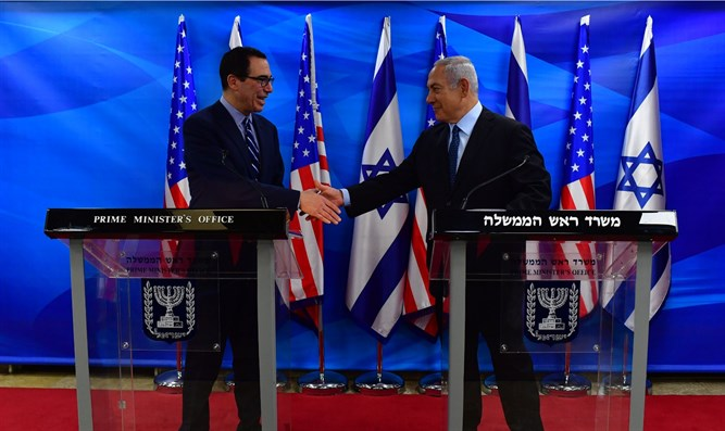 Netanyahu with Mnuchin