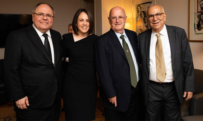 Left to Right: Dani Dayan, Rivka Kidron, General Yossi Peled, Prof. Joshua Sheme