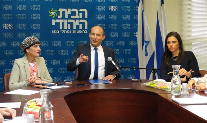 Bennett at Jewish Home Meeting