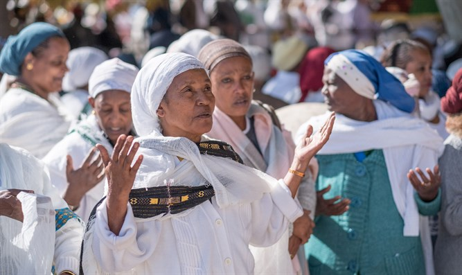 Ethiopian Jewish community in Israel take part in prayer for Sigd holiday