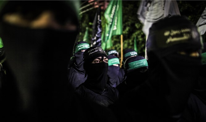 Hamas terrorists in Gaza