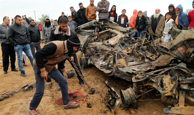 Scene of battle in Gaza during which Lieutenant Col. M. was killed