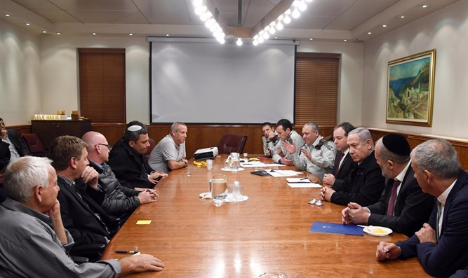 Netanyahu meets heads of the city council from the south