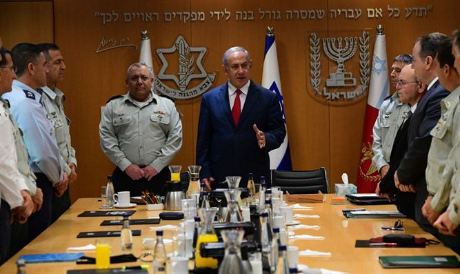 Netanyahu meets with the General Staff