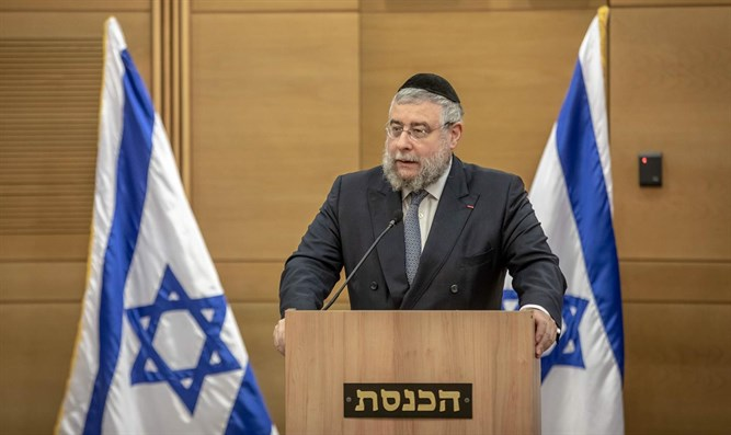 Rabbi Pinchas Goldschmidt at the Knesset