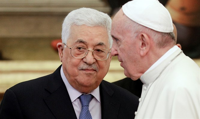 Mahmoud Abbas and Pope Francis