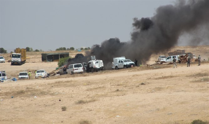 One of the evacuations in Al-Arakib