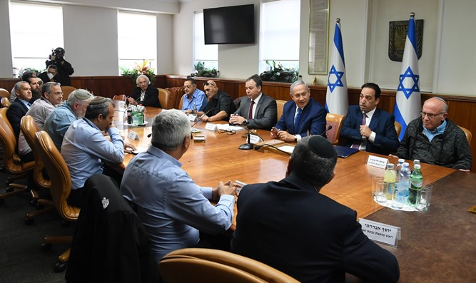 Meeting of the heads of Judea and Samaria with Netanyahu