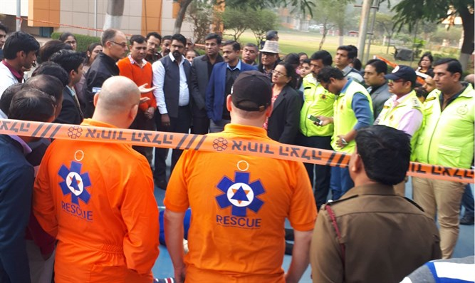 United Hatzalah team in Gurugram, India