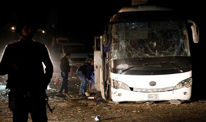 Scene of bus blast in Giza (archive)