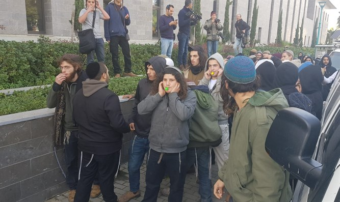 Teens outside of court protest arrest of 'Jewish terror' suspects
