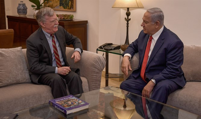 John Bolton meets with Netanyahu at PM's residence