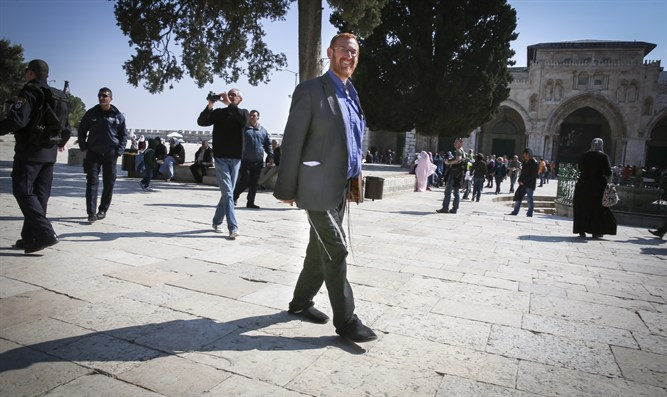 Yehuda Glick on the Temple Mount