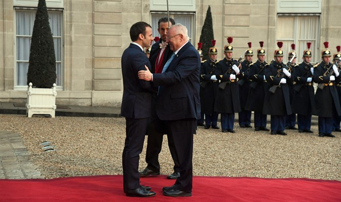 Rivlin with Macron