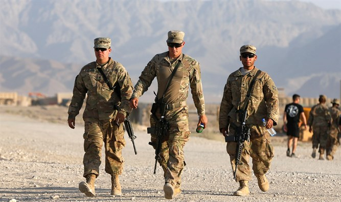 US troops at base in Logar province, Afghanistan