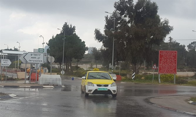The checkpoint at the entrance to Ramallah is wide open