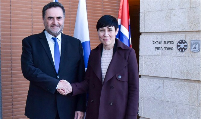 Minister Yisrael Katz with Norwegian Foreign Minister