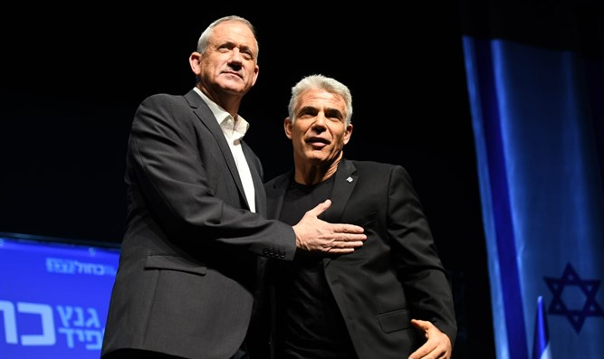 Gantz (l) and Lapid (r)