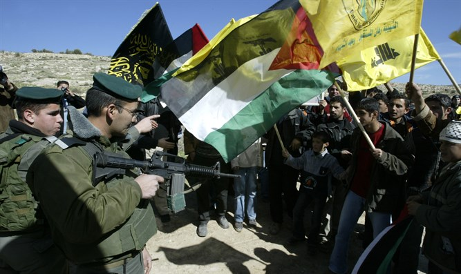 Hezbollah supporters in Samaria, Israel
